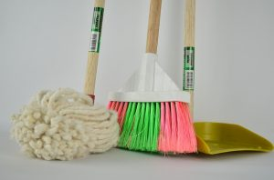 Broom, Mop and Cleaning Shovel